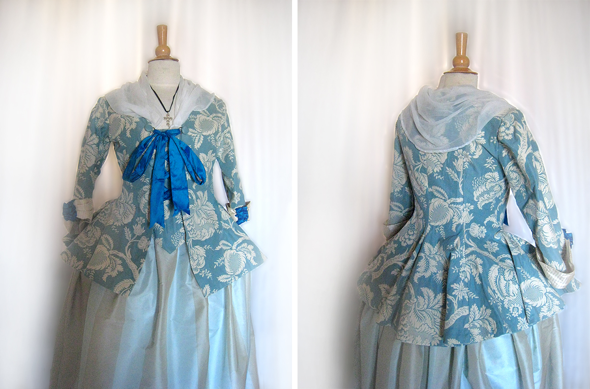 XVIIIe siècle, casaquin, costumes historiques, robe, soie