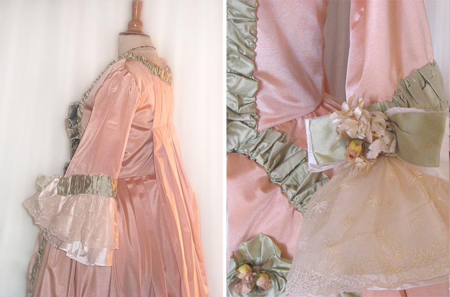 XVIIIe siècle, robe ballante, costumes historiques, robe
