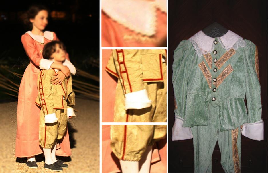 costume enfant, costume historique, louis XIII