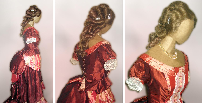 costumes historiques, robe en soie